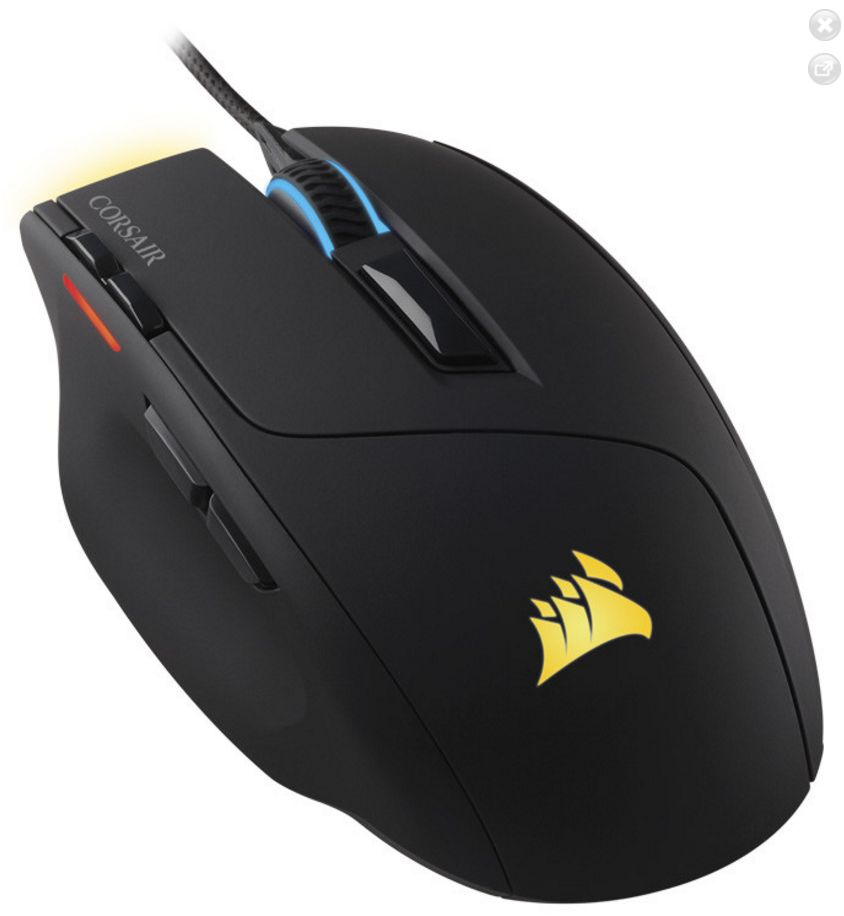 New CORSAIR Sabre RGB Gaming Mouse Lightweight Design 10,000 DPI Optical