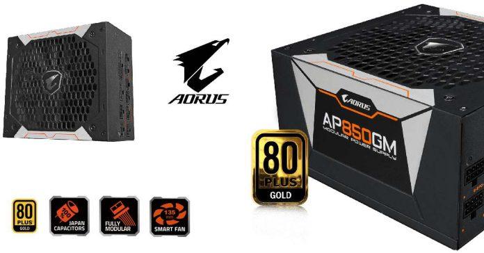 Gigabyte fontes Aorus P750W e P850W