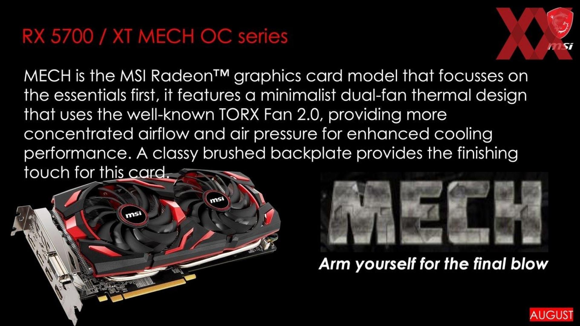 MSI เตรียมเปิดตัวการ์ด Custom ของ Radeon RX 5700-series ถึง